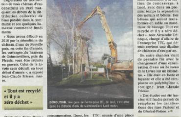 Le Château d'eau de Guimonvilliers n'a pas résisté